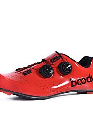cheap -BOODUN Adults' Bike Shoes Road Bike Shoes Breathable Anti-Slip Mountain Bike MTB Road Cycling Cycling / Bike Black Yellow Red Men's Women's Cycling Shoes
