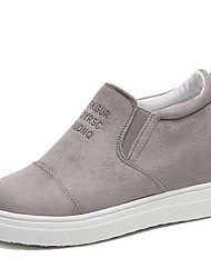 cheap -Women's Sneakers Hidden Heel Round Toe Suede Booties / Ankle Boots Winter Black / Dark Brown / Blue