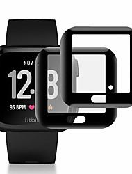 cheap -3 PCS Screen Protector for Fitbit Versa/Versa 2 Anti-Scratch 3D Protective Full Coverage Tempered Glass Screen Film