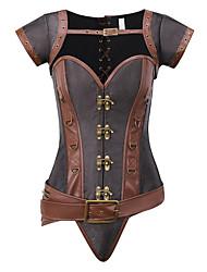 abordables -Grandes Tailles Polyester Corset Sexy Mosaïque Soirée Bandeau Style Gothique
