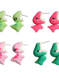 cheap -Women's Earrings Classic Mini Earrings Jewelry Fuchsia / Green / Pink For Christmas Party Anniversary Carnival Festival 1 Pair