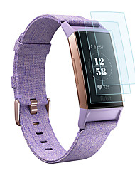 cheap -Screen Protector for Fitbit Charge 3/Charge 2 TPU High Definition (HD)/Scratch Proof  3 PCS