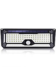 cheap -BRELONG Solar Outdoor 136LEDs Wall Light Infrared Body Sensor Light IP44 Waterproof for Courtyard Garden Community