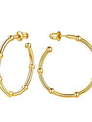 cheap -Women's Ear Piercing Drop Earrings Hoop Earrings Geometrical Alphabet Shape Statement Simple Fashion S925 Sterling Silver Earrings Jewelry Gold For Graduation Engagement Gift Daily Festival 1 Pair