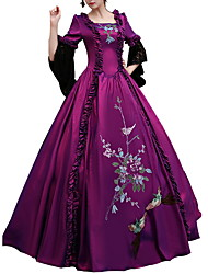 cheap -Dance Costumes Dresses Women's Performance Polyster Lace / Embroidery / Ruching 3/4-Length Sleeve Dress