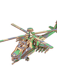 cheap -3D Puzzle Metal Puzzle Helicopter Metal Unisex Toy Gift