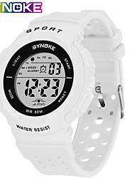 Недорогие -SYNOKE электронные часы Цифровой Спортивные Стильные силиконовый 30 m Защита от влаги Календарь ЖК экран Цифровой На открытом воздухе Мода - Черный Белый Синий