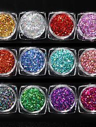 cheap -1 pcs Safety / New Design / Creative Plastics Glitter Powder Loose powder For Finger Nail Fashion nail art Manicure Pedicure Daily / Festival Trendy / Fashion