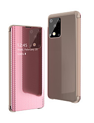 cheap -Case For Samsung Galaxy S20 Ultra Plus/ S9 Plus / S8 Plus Shockproof / Mirror / Flip Full Body Cases Solid Colored PU Leather / Acrylic