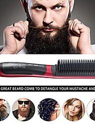 cheap -Beard Straightener Multifunctional Hair Beard Straightening Comb Quick Styler Ceramic Temperature Adjustable Brush