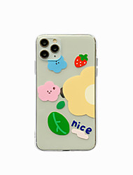 cheap -Case for Apple scene map iPhone 11 X XS XR XS Max 8 Flower pattern painted high-quality high-transparency TPU material all-inclusive mobile phone case