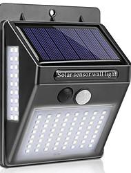 cheap -BRELONG Solar Body Sensor Wall Light 100LED Three Sides Illuminated Outdoor Waterproof Outdoor Garden Light