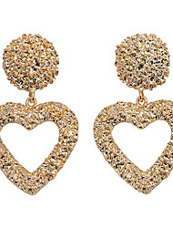 cheap -Women's Drop Earrings Earrings Dangle Earrings Geometrical Heart Holiday Trendy Romantic Cute Colorful Earrings Jewelry Rose Gold / Gold / Silver For Engagement Gift Daily Street Holiday 1 Pair