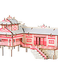 cheap -Wooden Puzzle Chinese Architecture House Professional Level Wooden 1pcs Kid's Boys' Gift