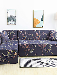 cheap -Floral Print Dustproof Stretch Slipcovers Stretch L Shape Sofa Cover Super Soft Fabric Couch Cover (You will Get 1 Throw Pillow Case as free Gift)