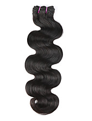 cheap -1 Bundle Brazilian Hair Body Wave Virgin Human Hair Remy Human Hair Natural Color Hair Weaves / Hair Bulk 8 - 26 inch Natural Black Human Hair Weaves Best Quality 100% Virgin Unprocessed Human Hair