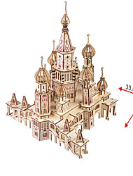 cheap -Wooden Puzzle Famous buildings Chinese Architecture House Church Professional Level Wooden 1pcs Kid's Boys' Gift