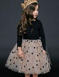 cheap -Kids Girls' Geometric Dress Black