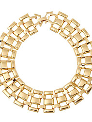 cheap -Women's Pendant Necklace Geometrical Vertical / Gold bar Fashion Chrome Gold 45 cm Necklace Jewelry 1pc For Gift Daily