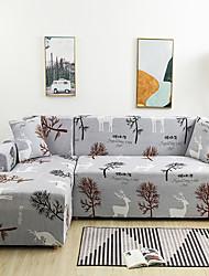 abordables -Housse de canapé extensible étanche à la poussière tout-puissant Housse de canapé en tissu super doux avec une taie d'oreiller gratuite