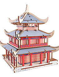 cheap -3D Puzzle Jigsaw Puzzle Wooden Puzzle Famous buildings House DIY Wooden Natural Wood Classic Kid's Adults' Unisex Toy Gift