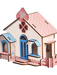 Недорогие -3D пазлы Пазлы Наборы для моделирования Домики Мода Лошадь Для детской Новый дизайн Горячая распродажа 1 pcs Классика Современный современный Мода Детские Взрослые Мальчики Девочки Игрушки Подарок