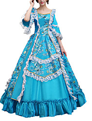 cheap -Dance Costumes Dresses Women's Performance Polyster Lace / Embroidery Half Sleeve Dress
