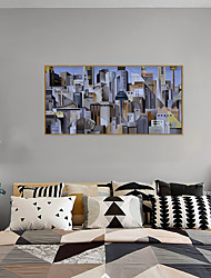 cheap -Framed Art Print Framed Set - Abstract Scenic PS Oil Painting Wall Art