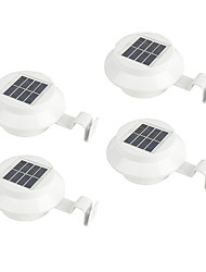 cheap -ZDM 4PCS Outdoor Solar Gutter LED Lights - White Auto On/Off Sun Power Smart Solar Gutter Night Utility Security Light