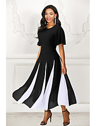 cheap -Women's A Line Dress - Striped Black M L XL XXL