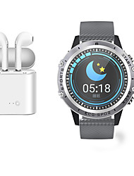 cheap -Indear M9  Women Smart Bracelet Smartwatch Android iOS Bluetooth Waterproof with TWS Bluetooth Wireless Headphones Music Headphones