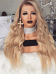 cheap -Synthetic Wig Body Wave Asymmetrical Wig Long Blonde Synthetic Hair 27 inch Women's Blonde