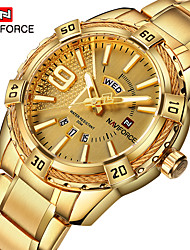 cheap -NAVIFORCE Men's Dress Watch Quartz Formal Style Stylish 30 m Water Resistant / Waterproof Calendar / date / day New Design Analog Luxury Fashion - Black Black / Rose Gold Gold / Large Dial