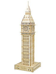 cheap -3D Puzzle Jigsaw Puzzle Wooden Model Famous buildings Wooden Natural Wood Kid's Unisex Toy Gift