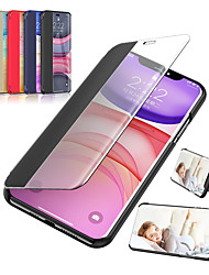 cheap -Case For iPhone 11 / 11 Pro / 11 Pro Max View Window Design Synthetic Leather Folio Flip Cover with Magnetic Closure Stand Protective Smart Case for iphone XS MAX / XR / XS / X / 8Plus / 8 / 7Plus / 7