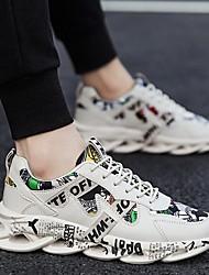 Недорогие -Муж. Клонистые кроссовки Осень на открытом воздухе Спортивная обувь Беговая обувь Синтетика Белый / Красный / Бежевый