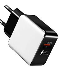 Недорогие -qc 3.0 зарядное устройство ес стандартный usb мобильный телефон быстрая зарядка головы путешествия адаптер зарядки