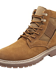 cheap -Men's Comfort Shoes Suede Fall & Winter Boots Booties / Ankle Boots Black / Camel / Khaki