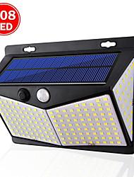 Недорогие -zdm 1шт солнечные светильники наружного освещения 208led / 3 modewireless датчик движения с широким углом обзора 270 ip65 водонепроницаемые для ограждения палубы столб стены двора и гаража
