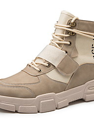cheap -Men's Comfort Shoes Suede Fall & Winter Boots Booties / Ankle Boots Black / Camel / Beige