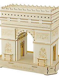 cheap -Famous buildings Arc de Triomphe 3D Puzzle Wooden Puzzle Metal Puzzle Model Building Kit Wooden Model Metal Kid's Adults' Toy Gift