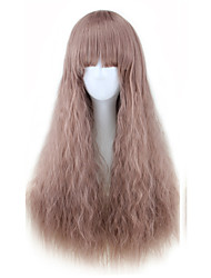 cheap -Synthetic Wig Curly Asymmetrical Wig Long Pink / Purple Synthetic Hair 27 inch Women's Best Quality Purple