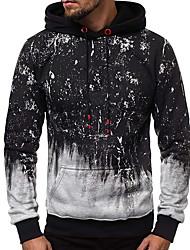 cheap -Men's Hoodie Geometric Hooded Basic Blue Dark Gray Gray US32 / UK32 / EU40 US34 / UK34 / EU42 US36 / UK36 / EU44 US38 / UK38 / EU46 US40 / UK40 / EU48