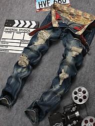 cheap -Men's Street chic Chinos Pants - Print Blue US32 / UK32 / EU40 US34 / UK34 / EU42 US36 / UK36 / EU44