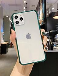 Недорогие -чехол для карты яблока сцены iphone 11 x xs xr xs макс 8 чистый цвет прозрачный высококачественный материал тпу четыре угла все включено чехол для мобильного телефона
