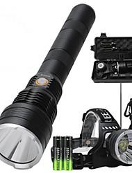 cheap -LED Outdoor Lights Cross-Border New Flashlight Headlight One Light Dual-Use P50 Strong Light Long-Range High-Power USB Rechargeable Flashlight