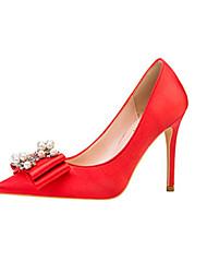 Недорогие -Жен. Обувь на каблуках На шпильке Заостренный носок Полиуретан Зима Черный / Золотой / Красный