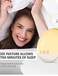 Недорогие -будильник будильник свет цифровое дремать природа ночник будильник рассвет красочный свет со звуками природы FM радио