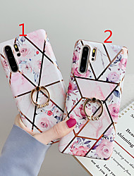 cheap -Case for Huawei Scene P30 P30 Lite P30 Pro Mate 30 Mate 30 ProStitching retro flower pattern electroplated diamond TPU material IMD process Ring stand all-inclusive mobile phone case