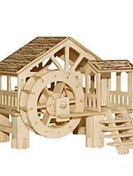 cheap -Jigsaw Puzzles Wooden Puzzles Building Blocks DIY Toys Water Mill 1 Wood Ivory Model & Building Toy